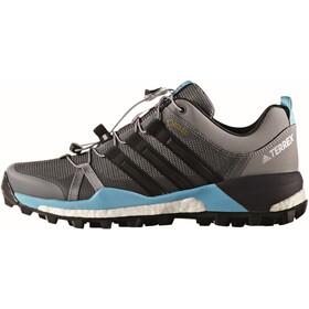 adidas TERREX Skychaser GTX Shoes Women grey twocore black/vapour blue
